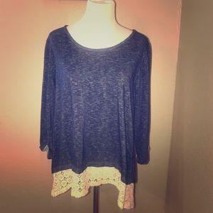 Long sleeve crochet tunic